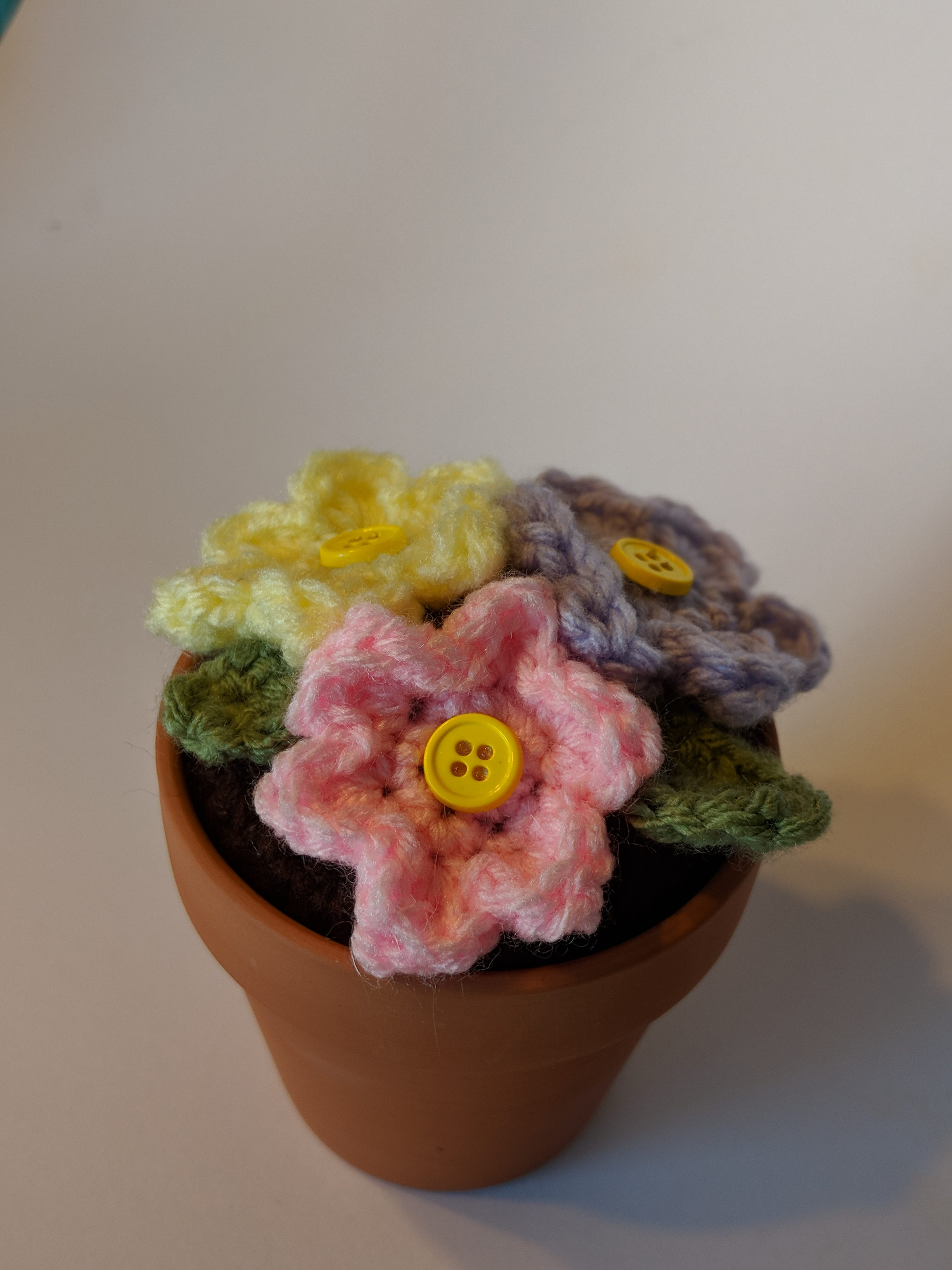 Potted Crochet Flowers To Craft A Home